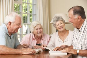 bigstock Group Of Senior Couples Attend 92381933