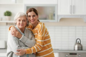 bigstock Elderly Woman With Female Care 281658721 1